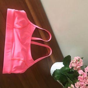 Like new Lululemon sports bra in hot pink!